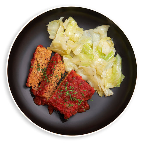 Turkey Meatloaf & Sauteed Cabbage