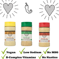 Smile blends nutritional yeast uses only simple plant based ingredients.