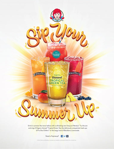 Brush Lettering by Meghan Hopkins Sokorai for Wendy's Sip Your Summer Up campaign