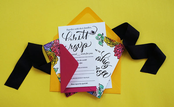Custom Wedding Invitation Suite - And Here We Are www.and-hereweare.com