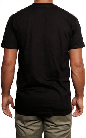 male modeling slim fit t shirt back