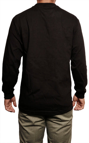 male modeling long sleeve t shirt back