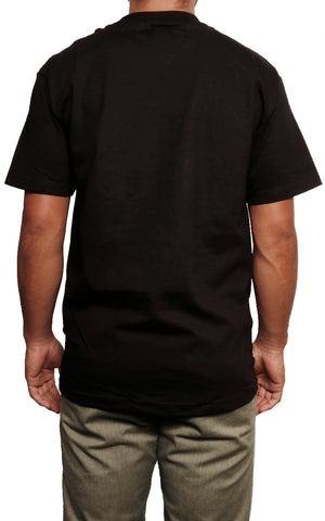 male modeling regular t shirt back