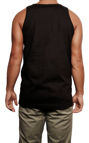 male modeling tank top back