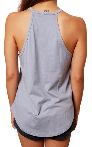 girl modeling rosette tank top back