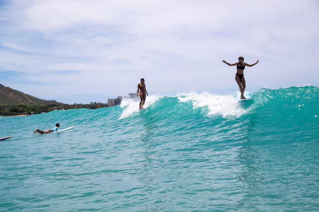 Surfing during COVID19 at Queens, Waikiki