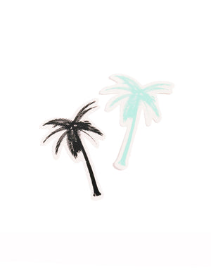 T&C Surf Designs T&C Surf Palm Tree Vinyl Sticker, Black