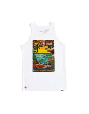 T&C Surf Designs Vans Triple Crown of Surfing 2020 Tank, S / White