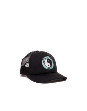 T&C Surf Designs T&C Surf Kids Standard Logo Trucker, OS / Black Mint