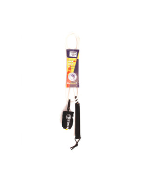 T&C Surf Designs T&C Surf 7' Standard Leash, 7' / White Black