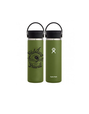 T&C Surf Designs 20 oz Anahulu Hydro Flask, Olive