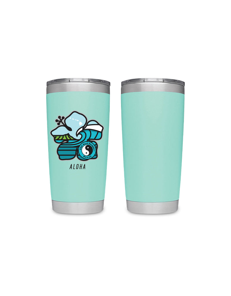 T&C Surf Designs T&C Surf 20oz Hibiscus Tumbler  Yeti, Seafoam