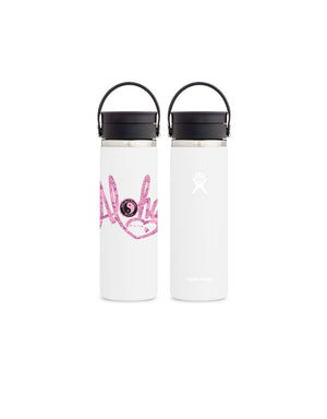 T&C Surf Designs T&C Surf 20 oz Aloha Heart Hydro Flask, White