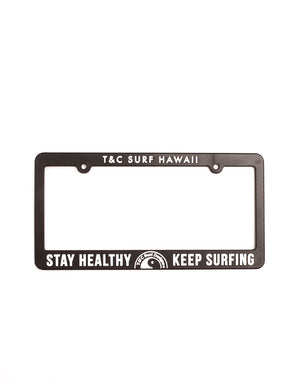 T&C Surf Designs T&C Surf Stay Healthy Keep Surfing License, Black