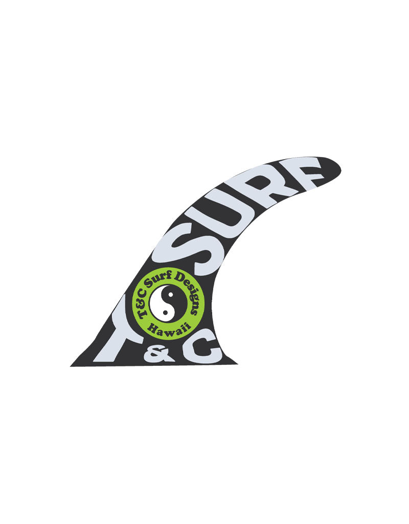 T&C Surf Designs T&C Surf Fin Sticker, Black White