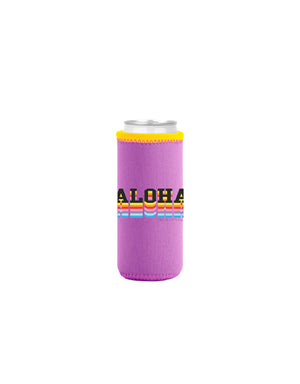 T&C Surf Designs T&C Surf Serve Aloha Tall Coozie, Purple