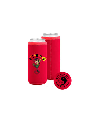T&C Surf Designs T&C Surf Uli Girl Tall Coozie, Red