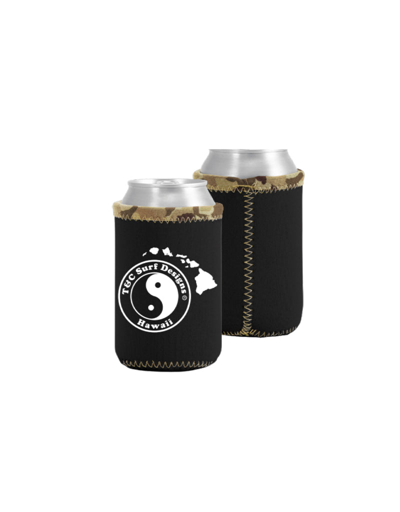 T&C Surf Designs T&C Surf Logo Island Coozie, Black Camo