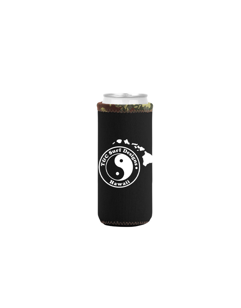 T&C Surf Designs T&C Surf Island Logo Tall Coozie, Black Camo