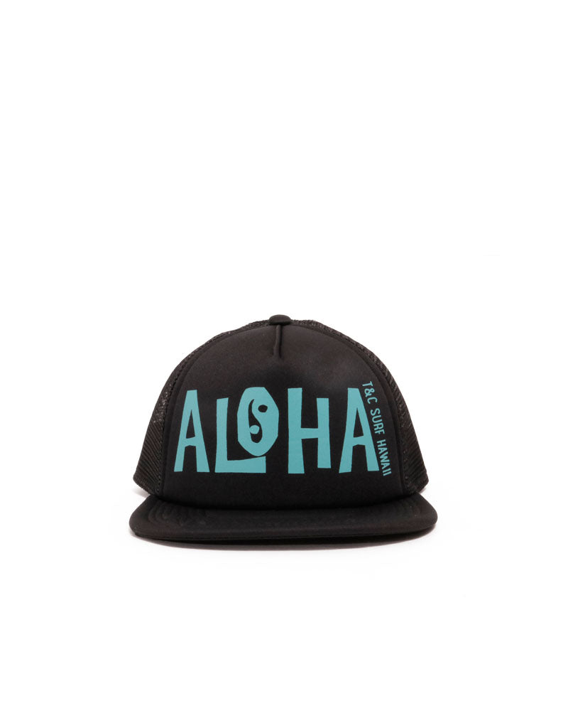 T&C Surf Designs T&C Surf Kids New School Aloha Trucker, Black Teal