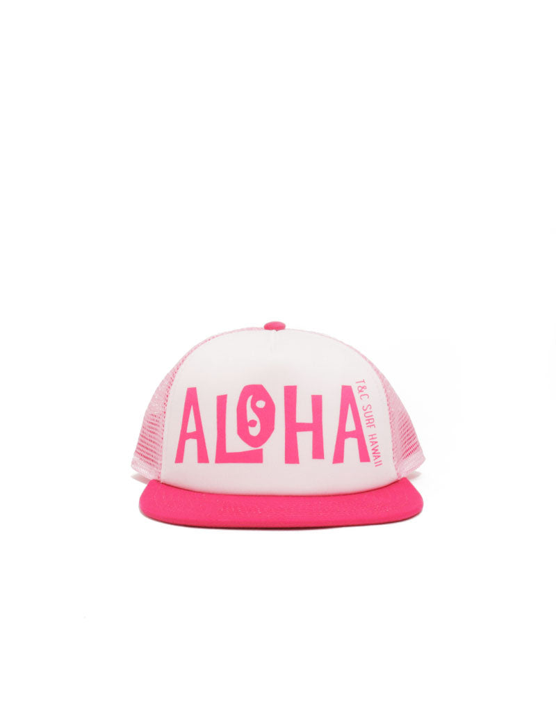 T&C Surf Designs T&C Surf Kids New School Aloha Trucker, White Pink