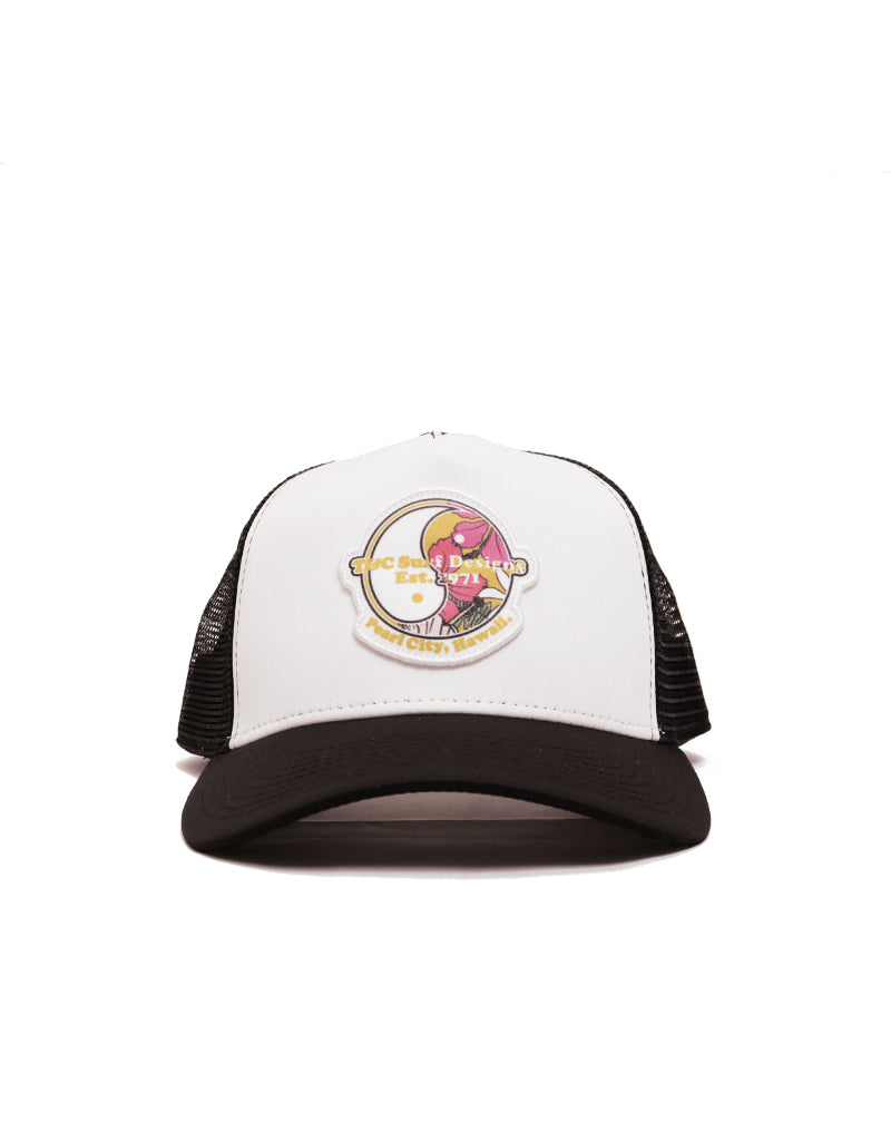 T&C Surf Floral Logo Trucker Hat