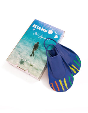 T&C Surf Designs Kicks Ha'a Keaulana Country Road Fin, XS (3-4) / Navy Rasta