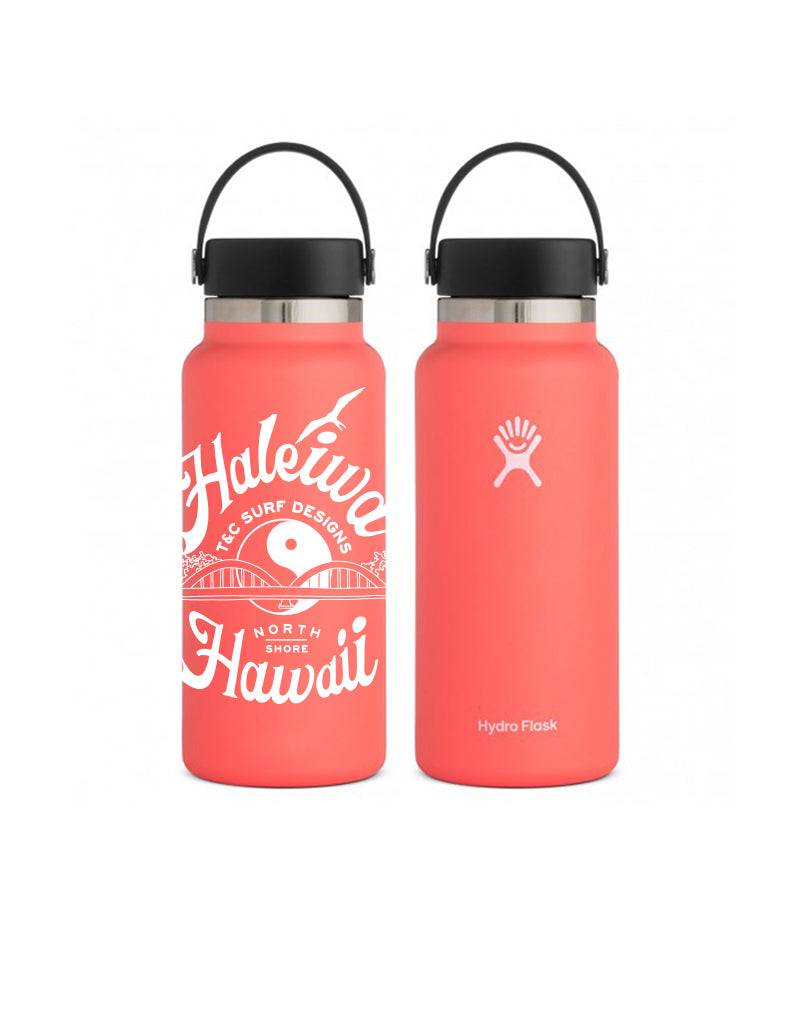 T&C Surf Designs 32 oz Anahulu Hydro Flask, Hibiscus