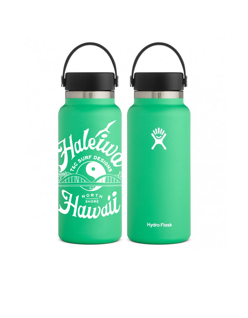 T&C Surf Designs 32 oz Anahulu Hydro Flask, Spearmint