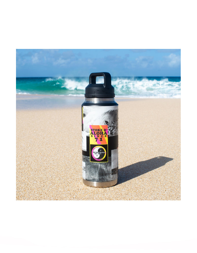 T&C Surf Designs T&C Surf 50 Year 36 oz 50th Collage Ramble Yeti Botle with Chug Cap,