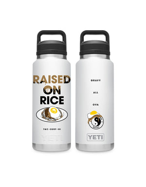 T&C Surf Designs T&C Surf 36 oz Loco Moco Rambler Yeti Bottle with Chug Cap, White
