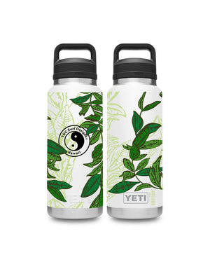 T&C Surf Designs T&C Surf 36 oz Maile Rambler Yeti Bottle with Chug Cap, White