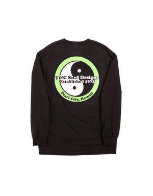 T&C Surf Designs T&C Surf Standard Logo Neon Long Sleeve, S / Black Green
