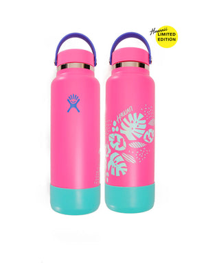 T&C Surf Designs Hydro Flask 40 ozWide Mouth Hawaii 2021 Bottle, Flamingo