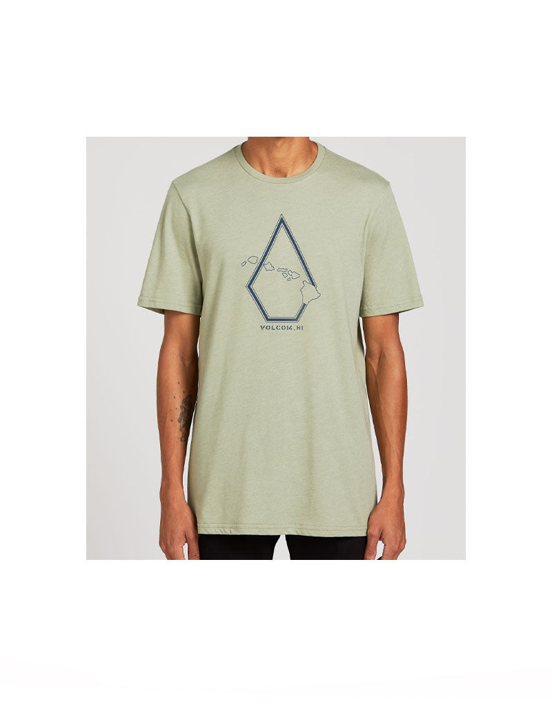 T&C Surf Designs Volcom Hawaii Pin Stone Tee, S / SGR