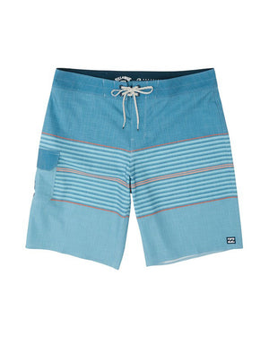 "T&C Surf Designs Billabong All Day Heather Stripe Pro 20"" Boardshort, 30 / Harbor Blue"