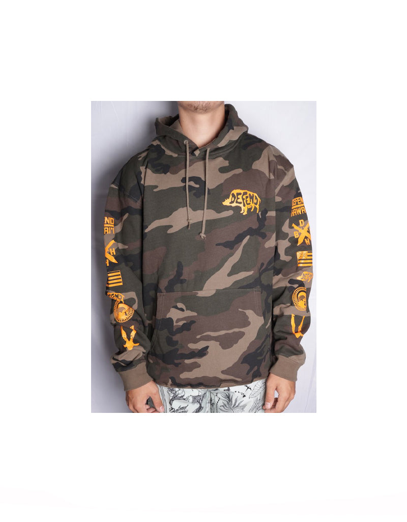 T&C Surf Designs Defend Pua'a Pull Over Hoody, S / Camo