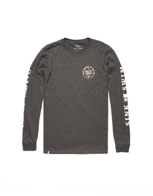 T&C Surf Designs Salty Crew Fathom Standard Long Sleeve, S / Charcoal