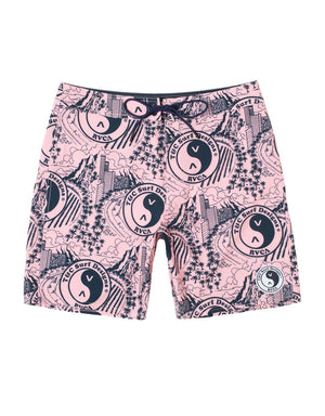 "T&C Surf Designs T&C Surf x RVCA 18"" Pink Boardshort, 28 / PNK"