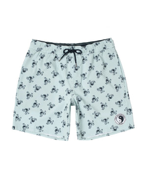 "T&C Surf Designs T&C Surf x RVCA 17"" Blue Volley Short, S / LBL"