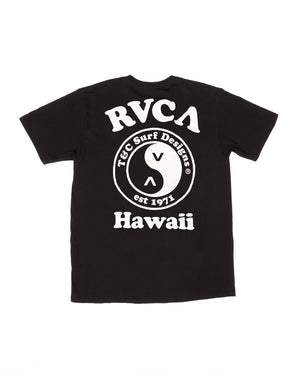 T&C Surf Designs T&C Surf x RVCA Peace Logo Black Tee,