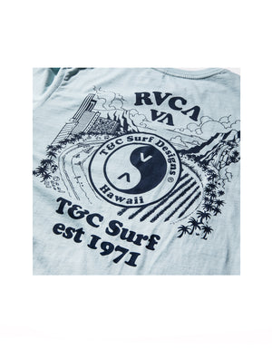 T&C Surf Designs T&C Surf x RVCA Hawaii Blue Tee,