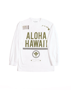 T&C Surf Designs Defend Hawaii Aloha Hawaii Long Sleeve, S / White