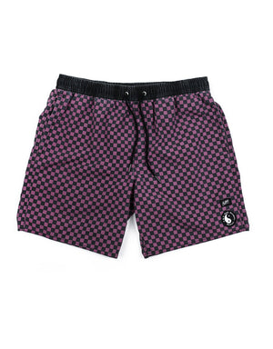 "T&C Surf Designs T&C Surf Checker 17"" Beach Short Plum, 30 / Plum"