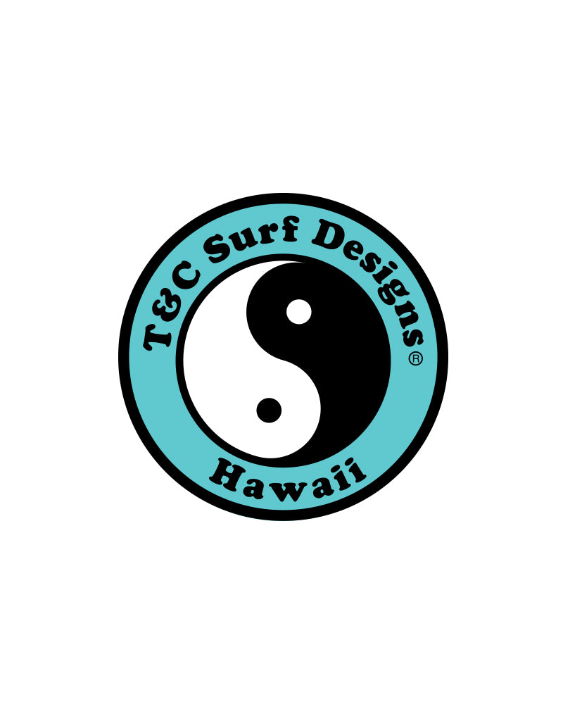 "T&C Surf Designs 6"" Standard Logo Vinyl Sticker, Mint"