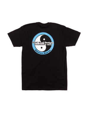 T&C Surf Designs Haleiwa Logo Jersey Tee, S / Black Blue