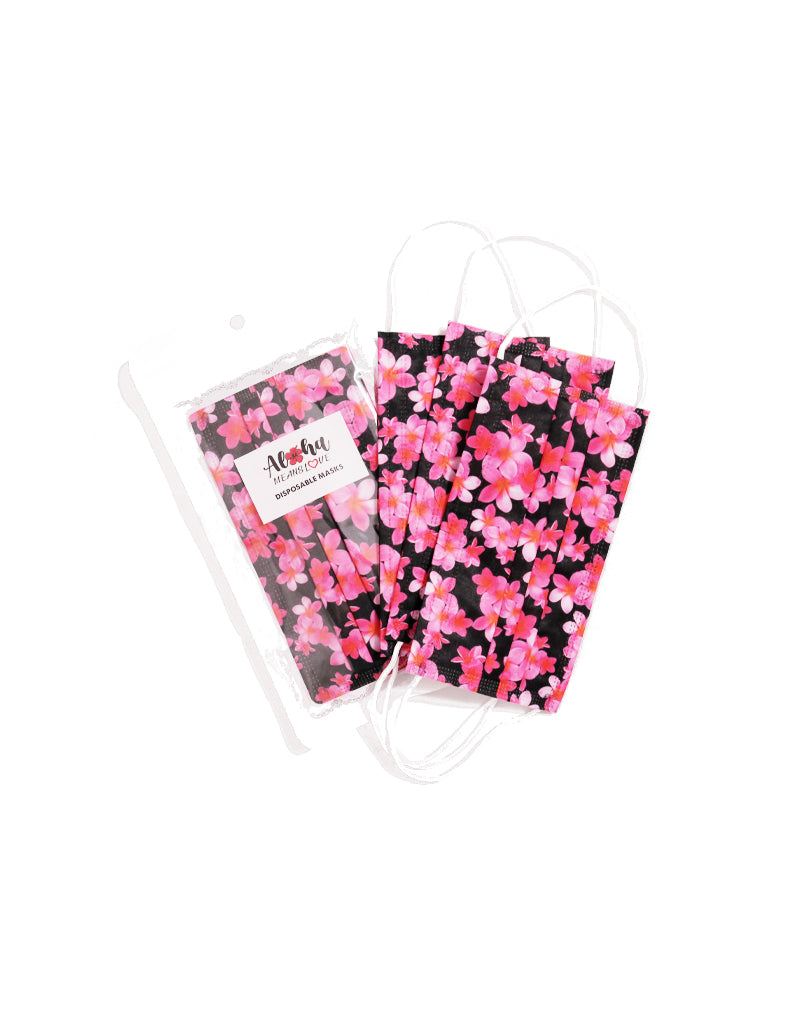 AML Plumeria 5pk Disposable Mask Pack