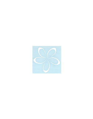 T&C Surf Designs Small Plumeria Die Cut Sticker, White