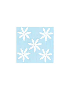 T&C Surf Designs 5 Tiare Die Cut Sticker, White