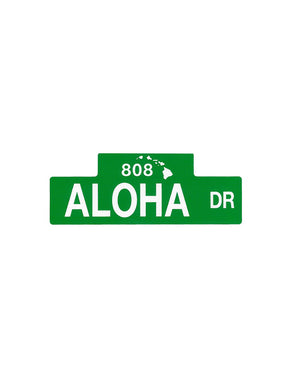 T&C Surf Designs Aloha Street Sign Sticker, One